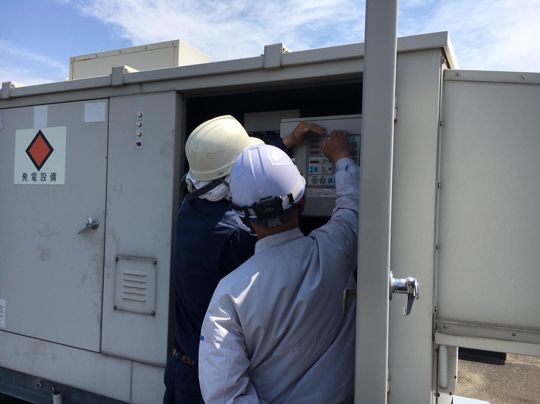 愛知県で非常用発電機の負荷試験・点検・保守メンテナンスならCSクリエイト